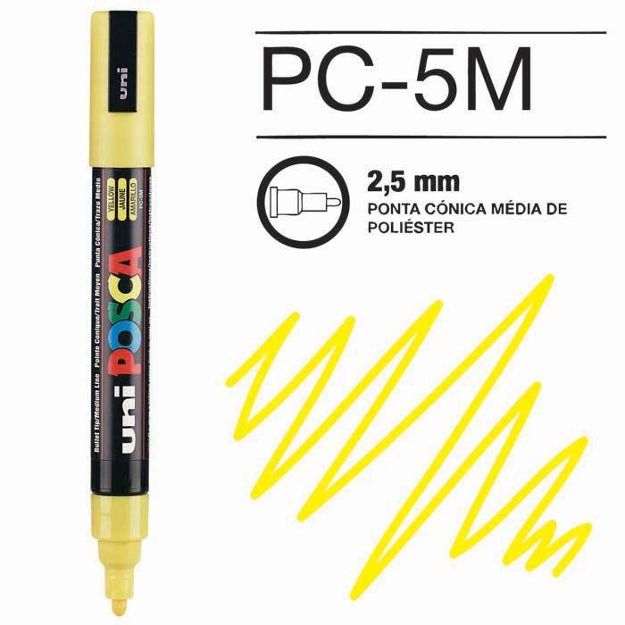 Canetas/Tintas Posca 5M Amarelo