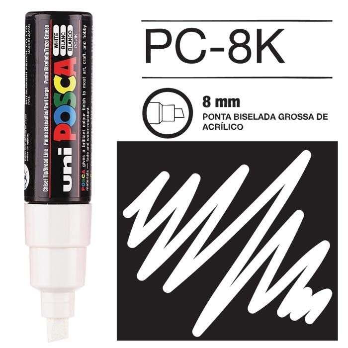 Canetas/Tintas Posca 8K Branco