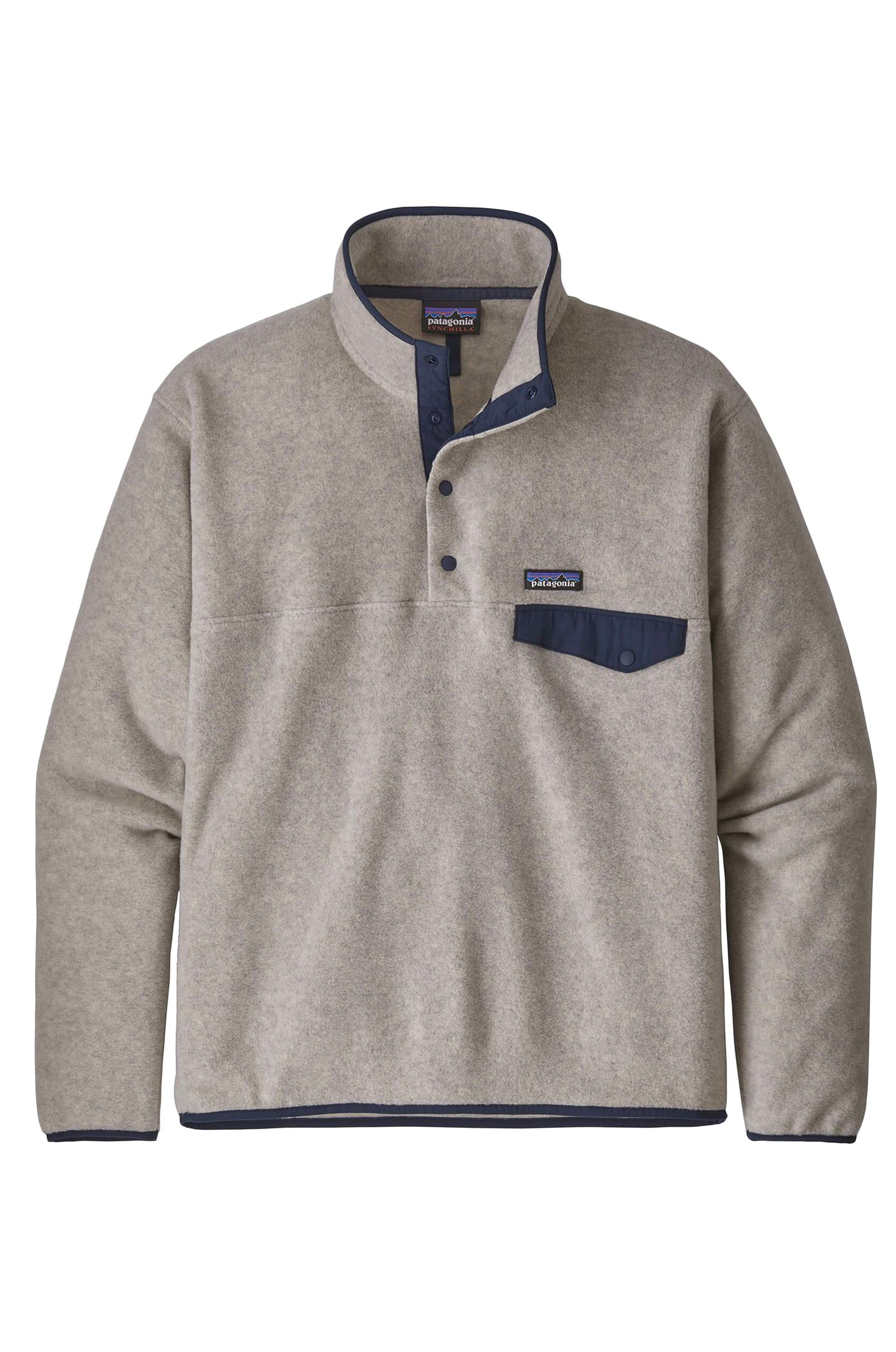 Sweat Polar Patagonia M'S SYNCH SNAP-T P/O Oatmeal Heather