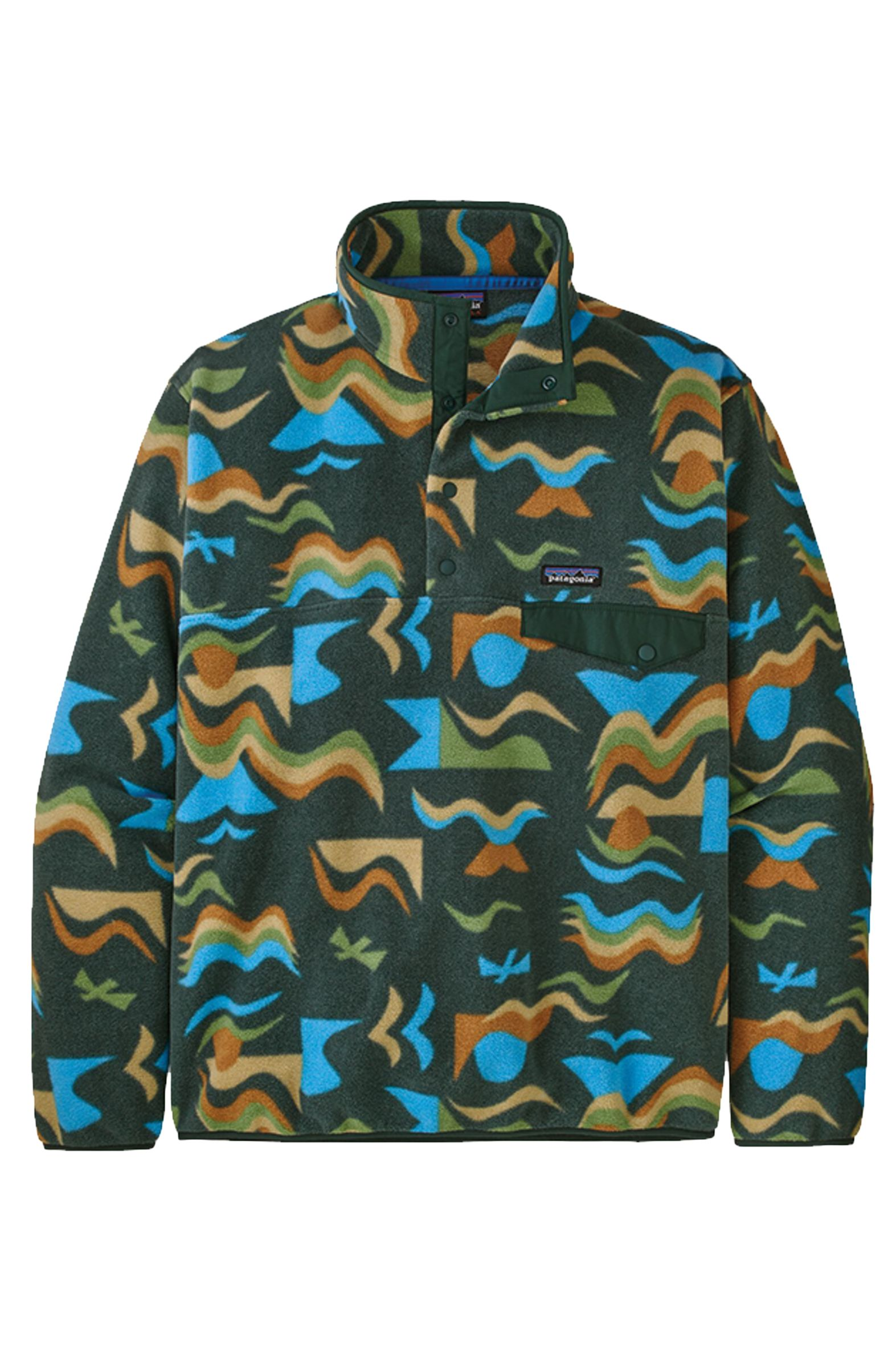 Patagonia Sweat Warmer M'S LW SYNCH SNAP-T P/O - EU FIT Arctic Collage: Northern Green