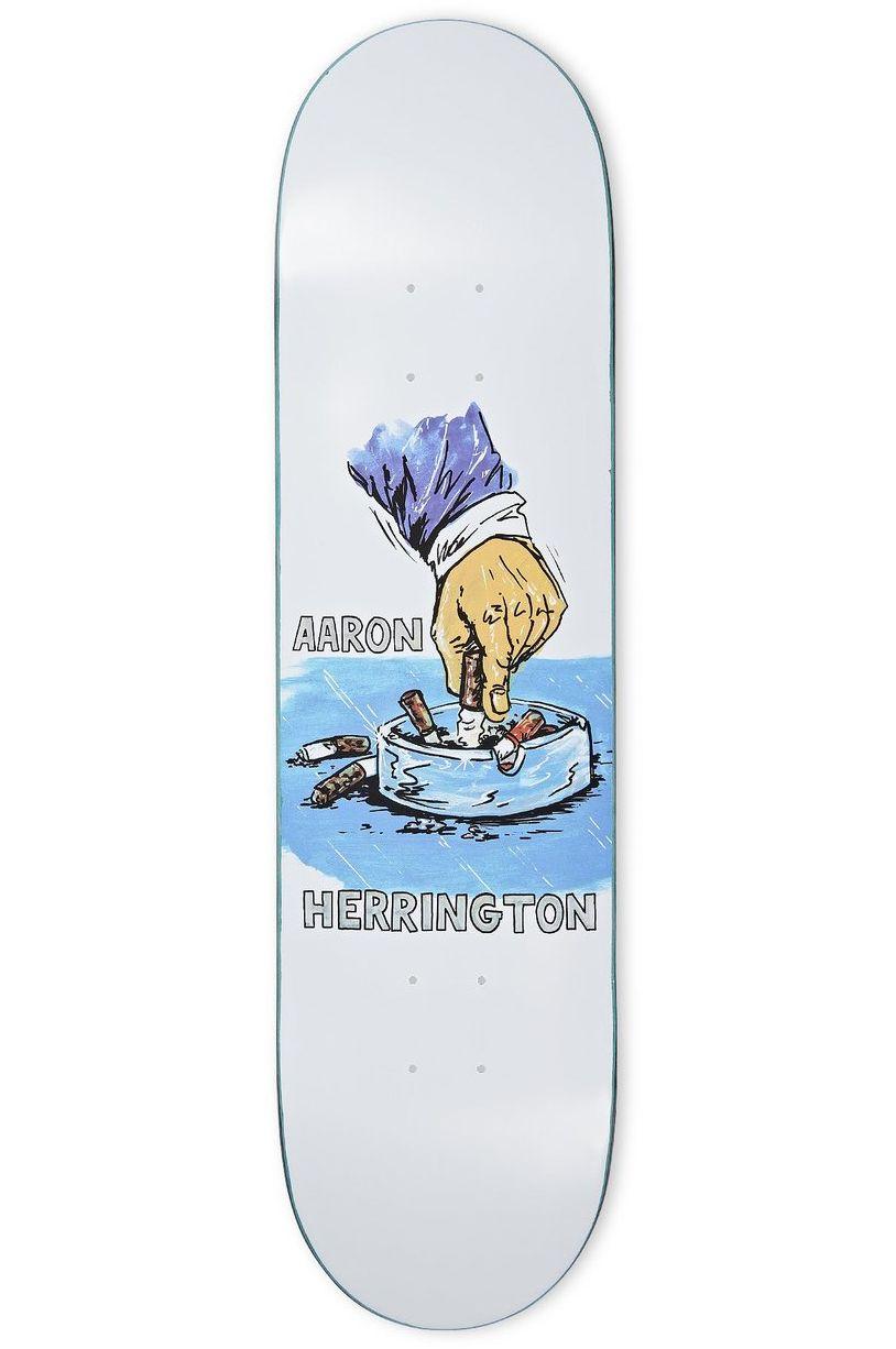 """Polar Skate Co Skate Board 8.125"""" AARON HERRINGTON - CHAIN SMOKER White"""