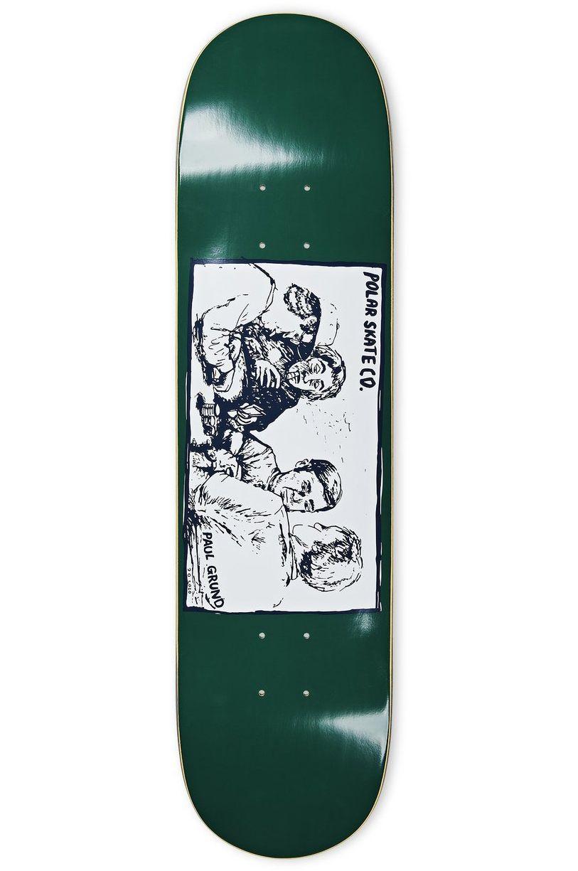 """Polar Skate Co Skate Board 8.375"""" PAUL GRUND - COLD STREAK Dark Green"""