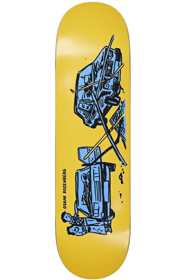 """Polar Skate Co Skate Board 8.375"""" OSKAR ROZENBERG - DRIVERS LICENSE Yellow"""
