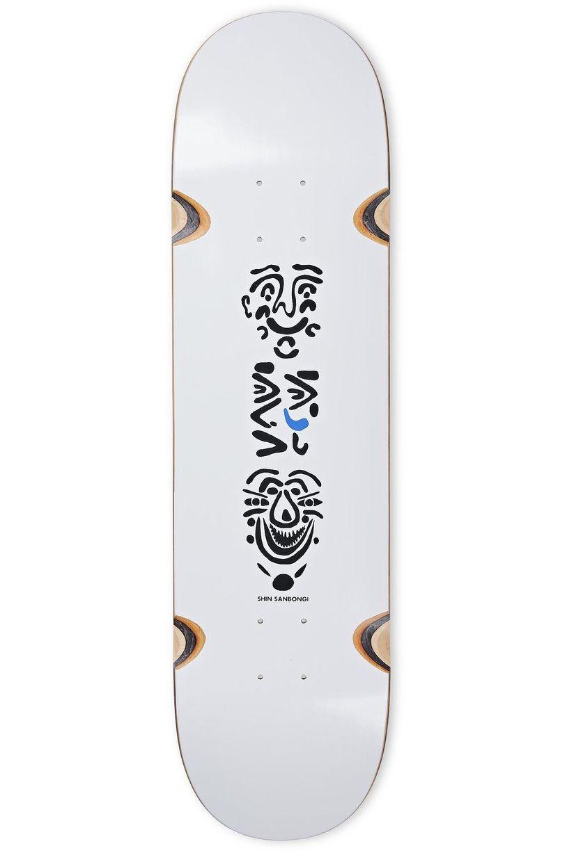 "Tabua Polar Skate Co 8.25"" SHIN SANBONGI - FACES WHEEL WELL White"