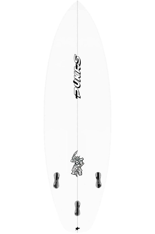 Prancha Surf Pukas MACHINE HEAD 5'11 Squash Tail - White FCS II 5ft11