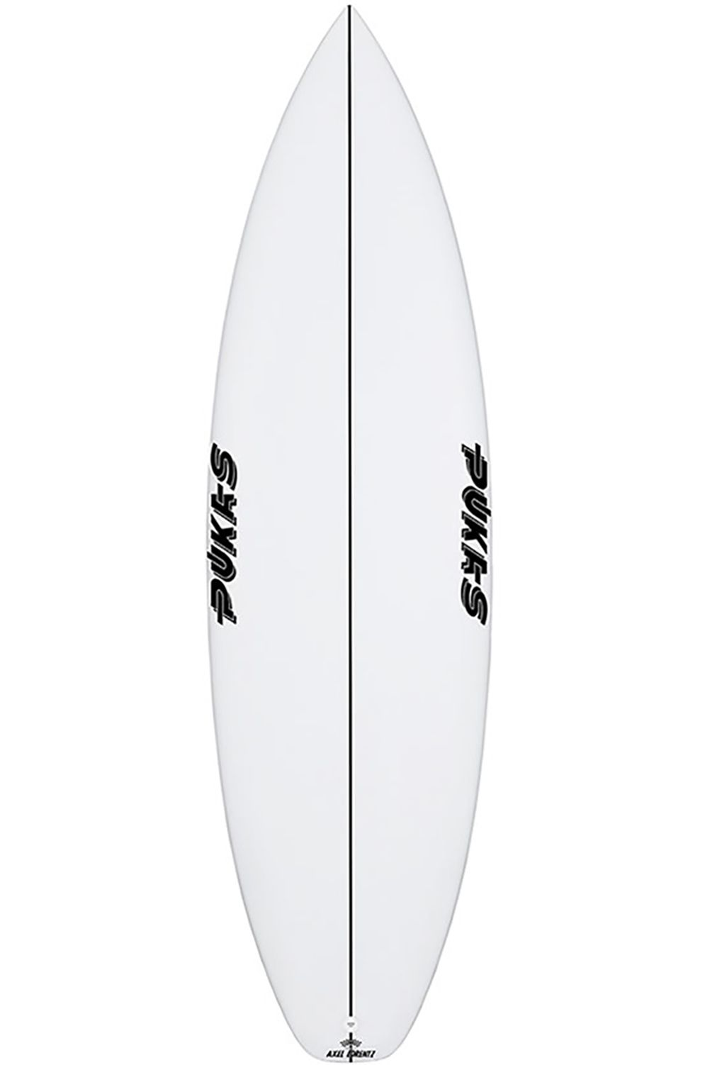 Pukas Surf Board 5'8 TASTY TREAT Squash Tail - White FCS II 5ft8