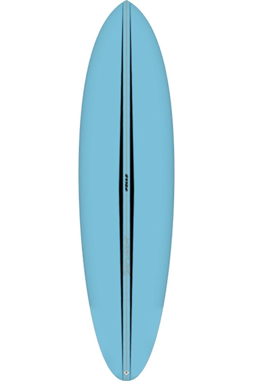 Pukas Surf Board 6'10 LA CÔTE BLUE Round Tail - Color FCS II Multisystem 6ft10