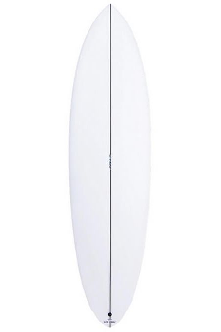 Pukas Surf Board 6'10 LADY TWIN Round Pin Tail - White Futures Twin 6ft10