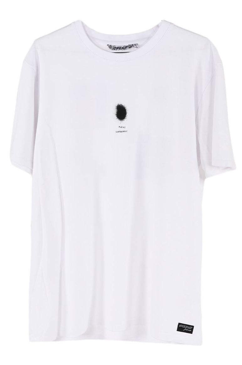 Pukas T-Shirt S/S TEE PINK SURFBOARDS White