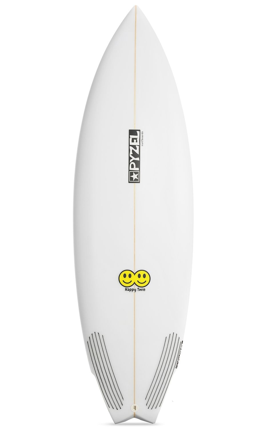Prancha Surf Pyzel HAPPY TWIN Fish Tail - White FCS II 5ft6