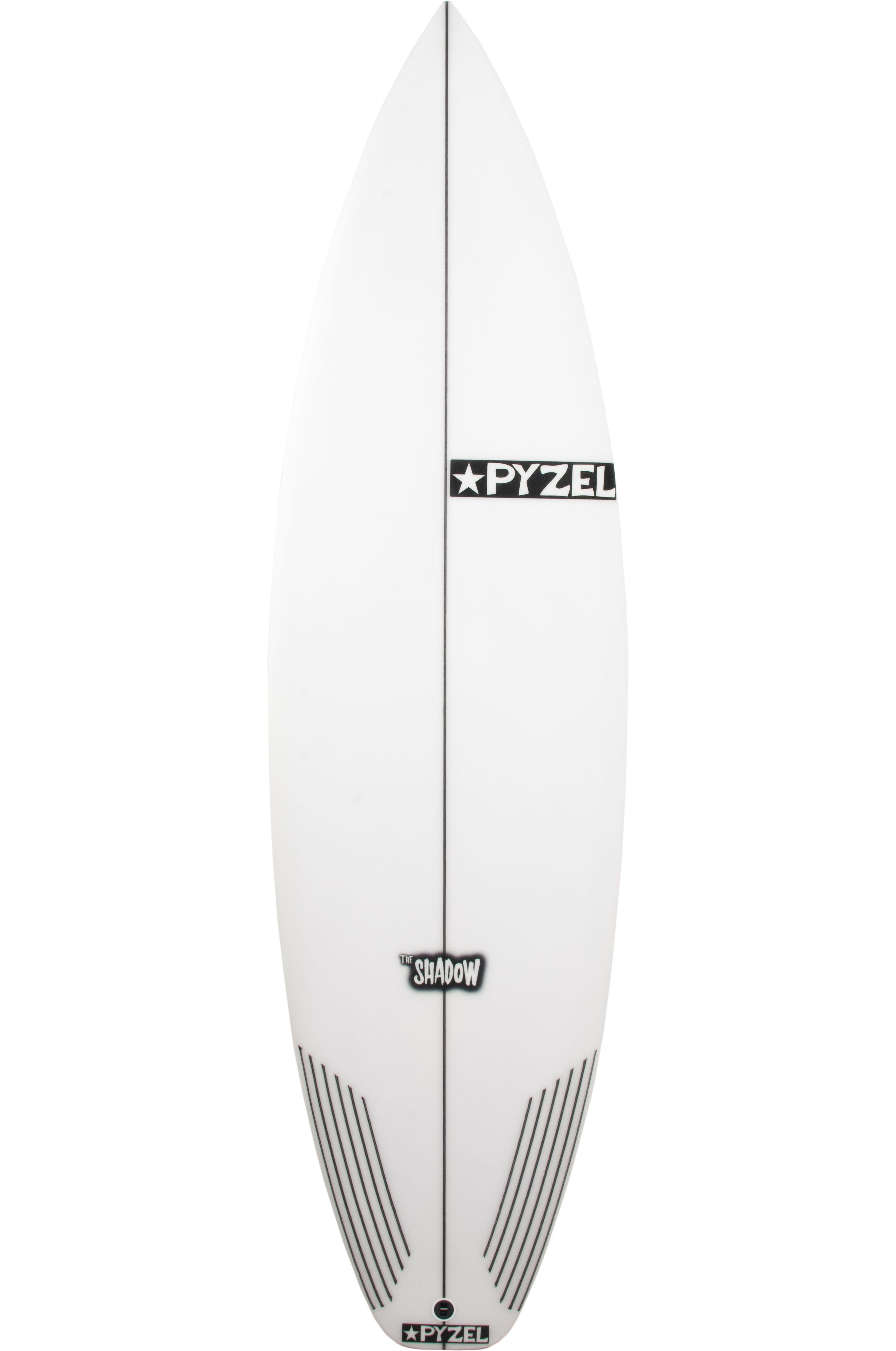 Prancha Surf Pyzel SHADOW 5'11 Squash Tail - White FCS II 5ft11