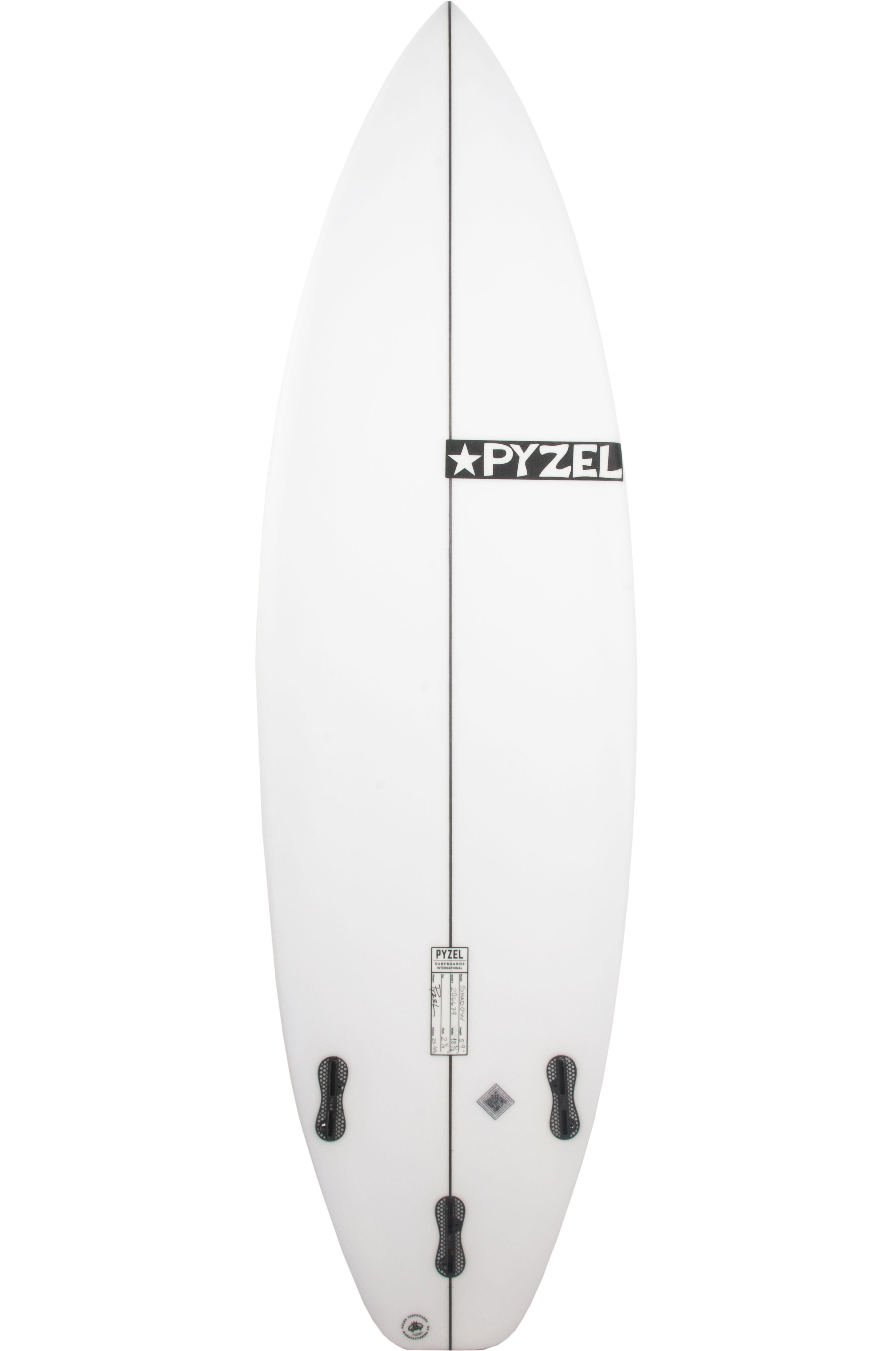 Prancha Surf Pyzel SHADOW 6'3 Squash Tail - White FCS II 6ft3