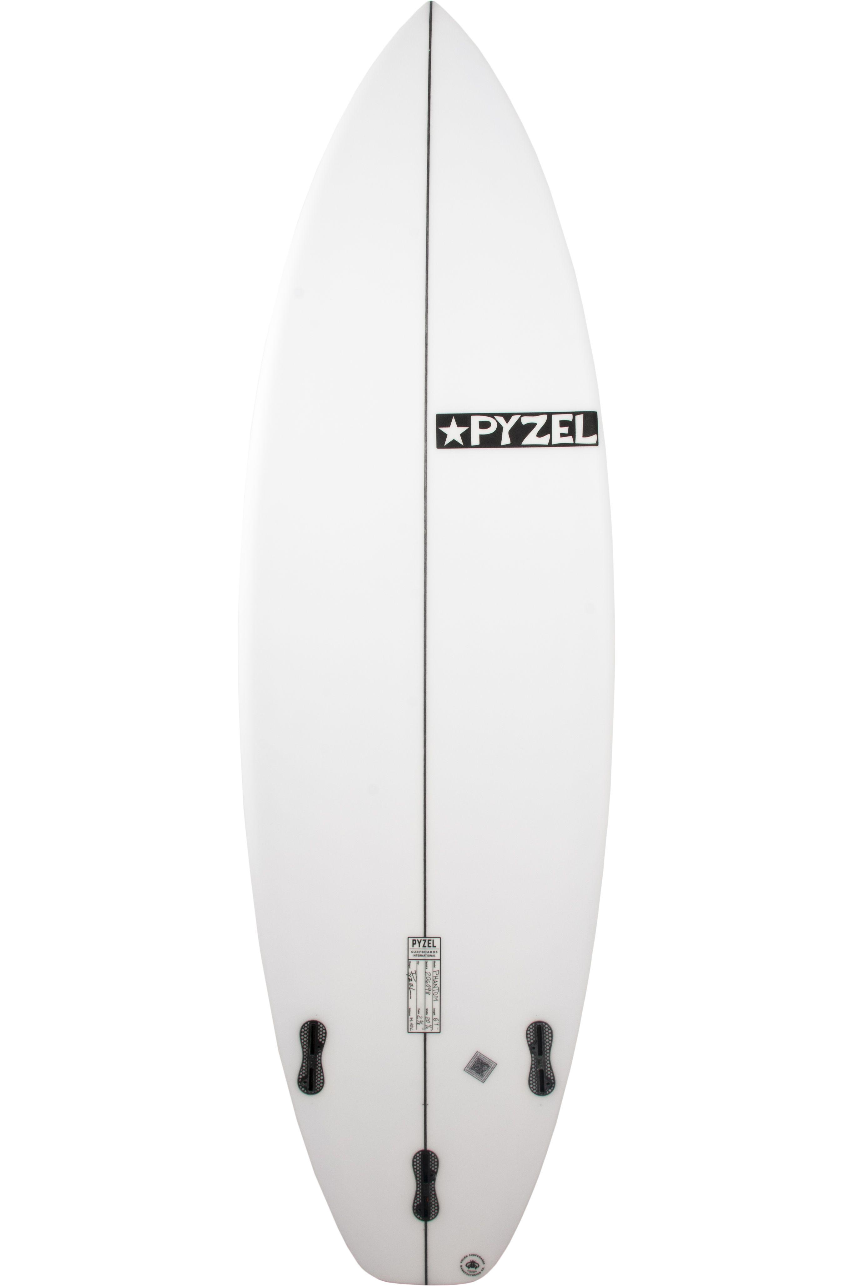 Prancha Surf Pyzel PHANTOM 5'7 Squash Tail - White FCS II 5ft7
