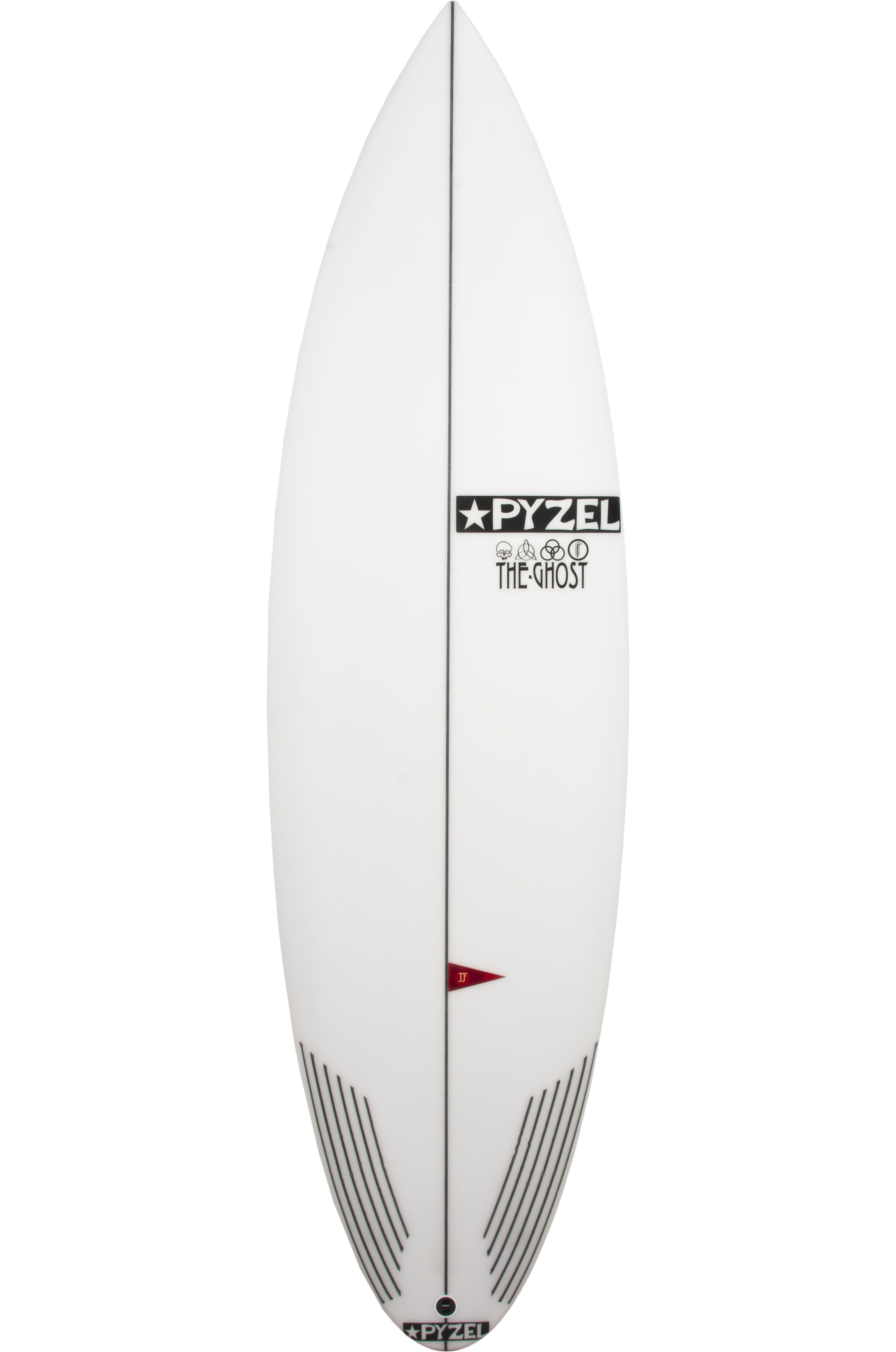 Prancha Surf Pyzel 5'10 GHOST Round Pin Tail - White FCS II Multisystem 5ft10