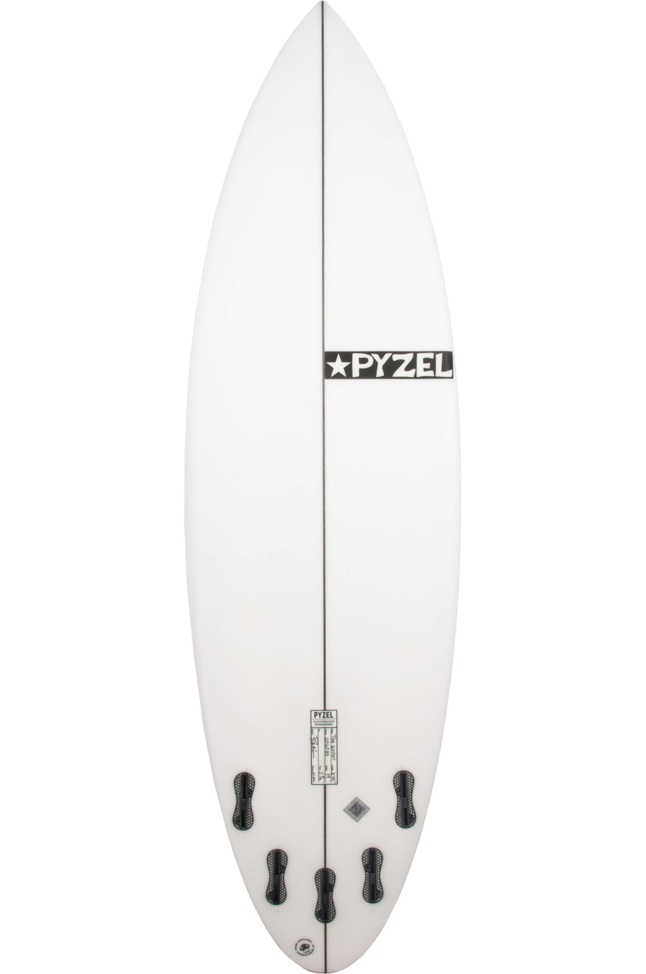 Prancha Surf Pyzel 6'4 GHOST Round Pin Tail - White FCS II Multisystem 6ft4