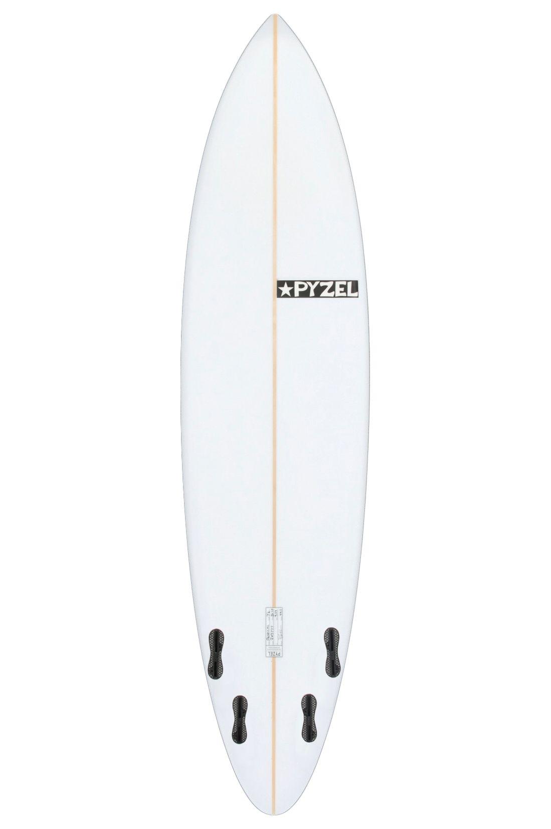 Prancha Surf Pyzel PADDILAC 7'0 Round Pin Tail - White FCS II Quad 7ft0
