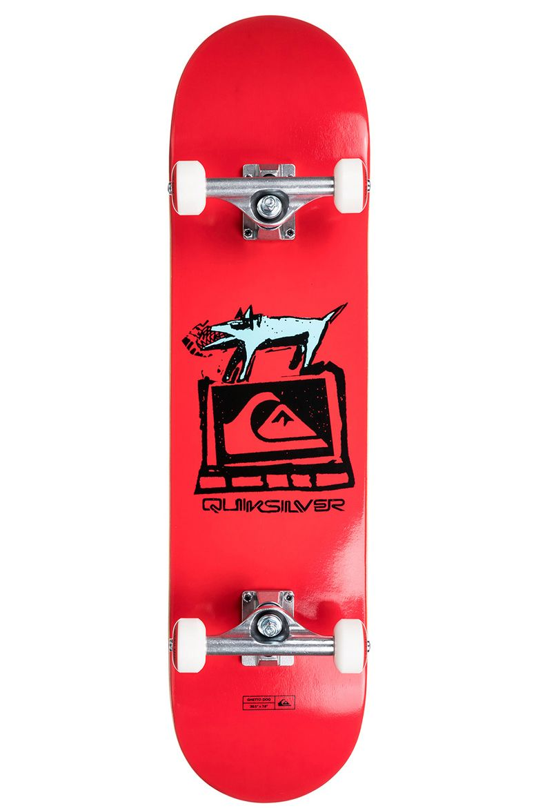 """Quiksilver Skate 8"""" X 32"""" GHETTO DOG Red"""