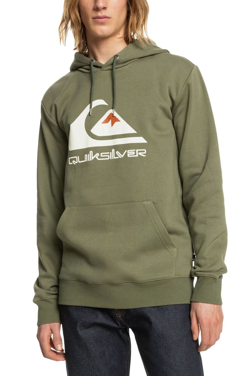Quiksilver Sweat Hood BIG LOGO Four Leaf Clover