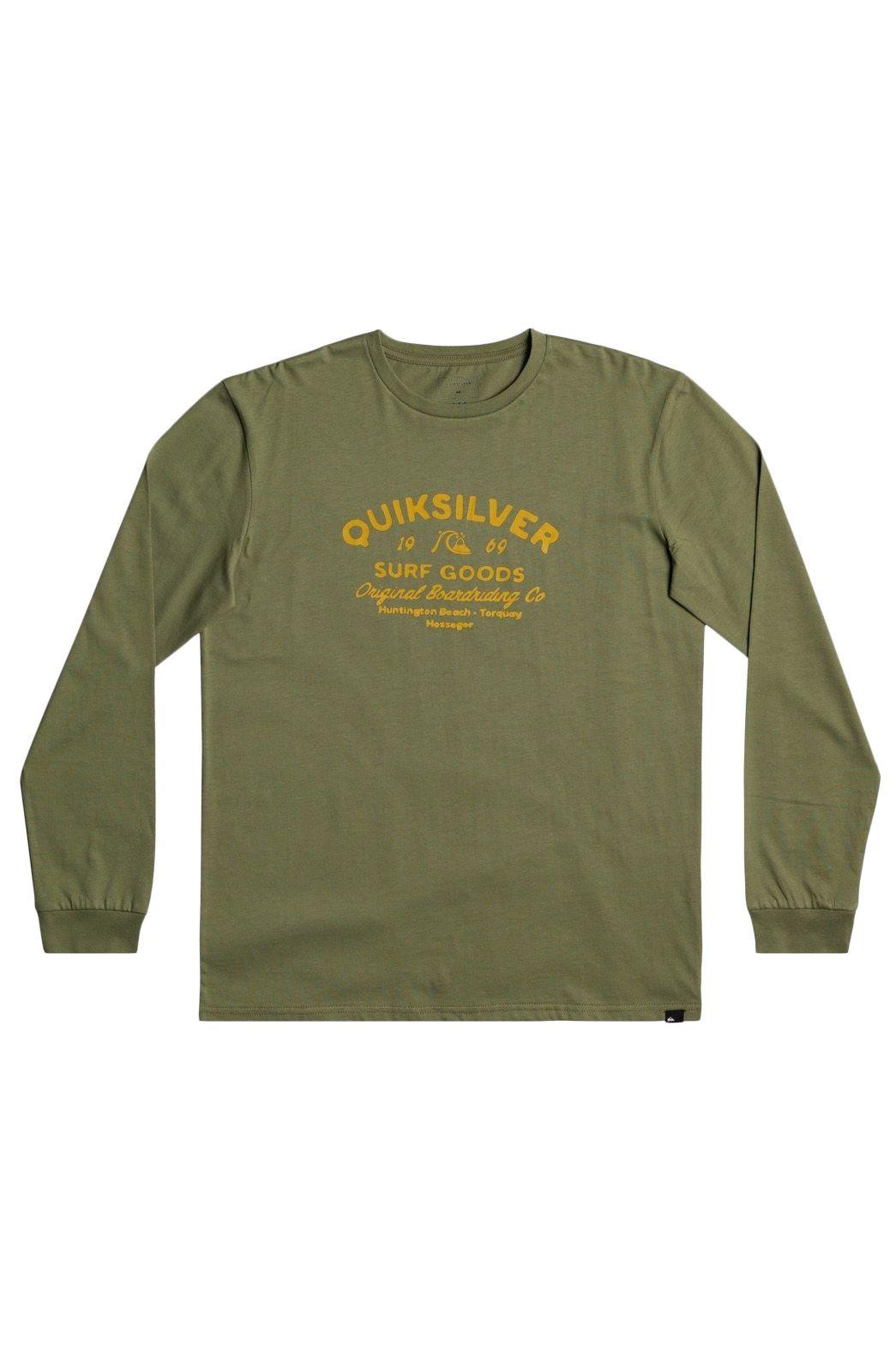 Quiksilver L-Sleeve CLOSED CAPTION Four Leaf Clover