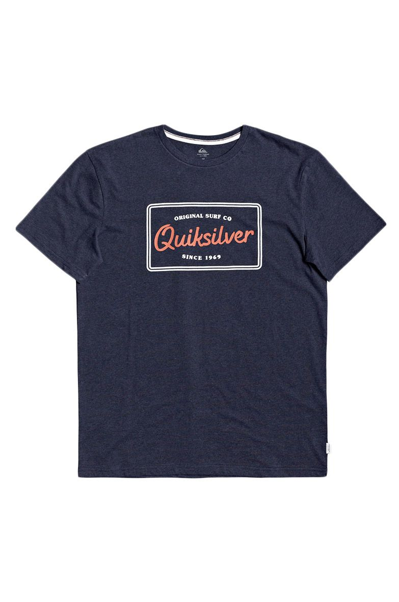 T-Shirt Quiksilver BLAZINGBACKSS M TEES Navy Blazer Heather