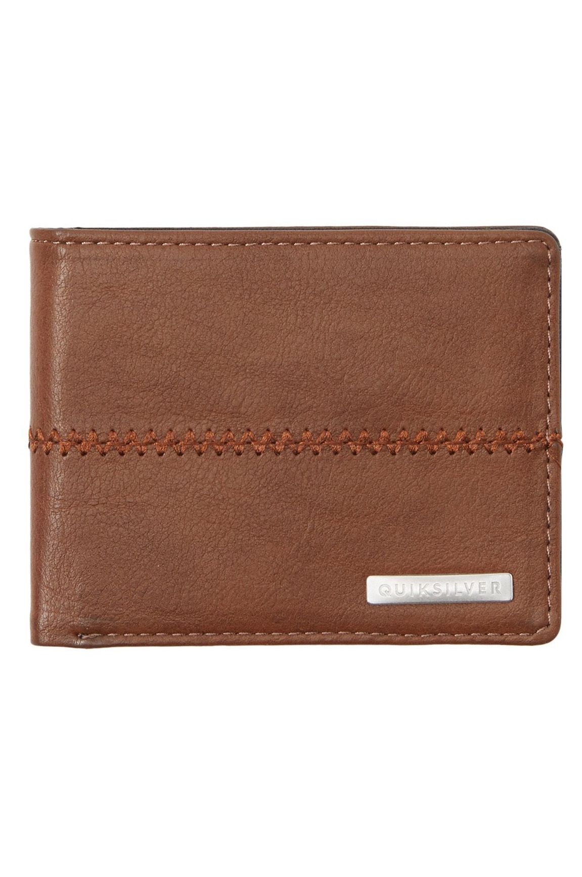 Quiksilver Wallet PU  STITCHY 3 Chocolate Brown