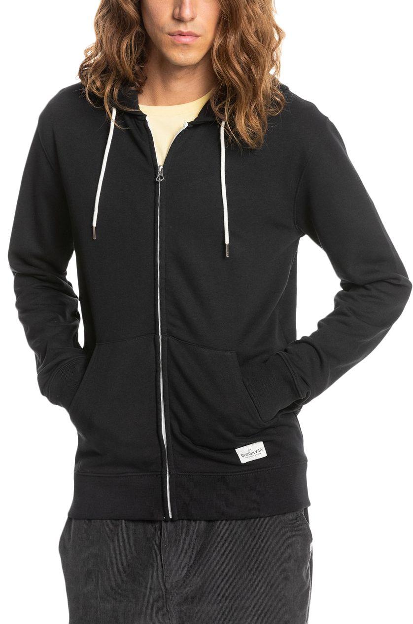 Quiksilver Sweat Zip Hood ESSENTIALS Black