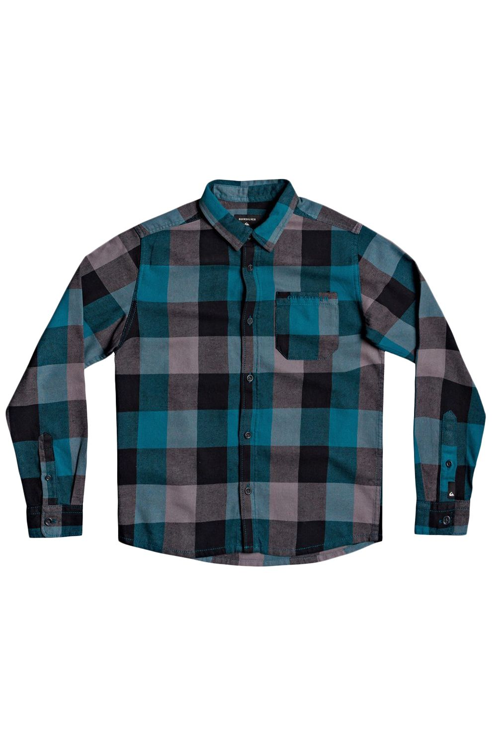 Quiksilver Shirt MOTHERFLY FLANNEL Blue Coral Motherfly