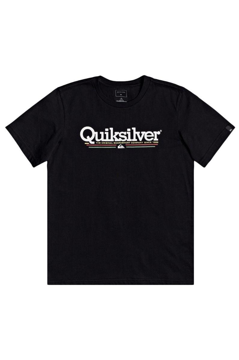 T-Shirt Quiksilver TROPICAL LINES Black