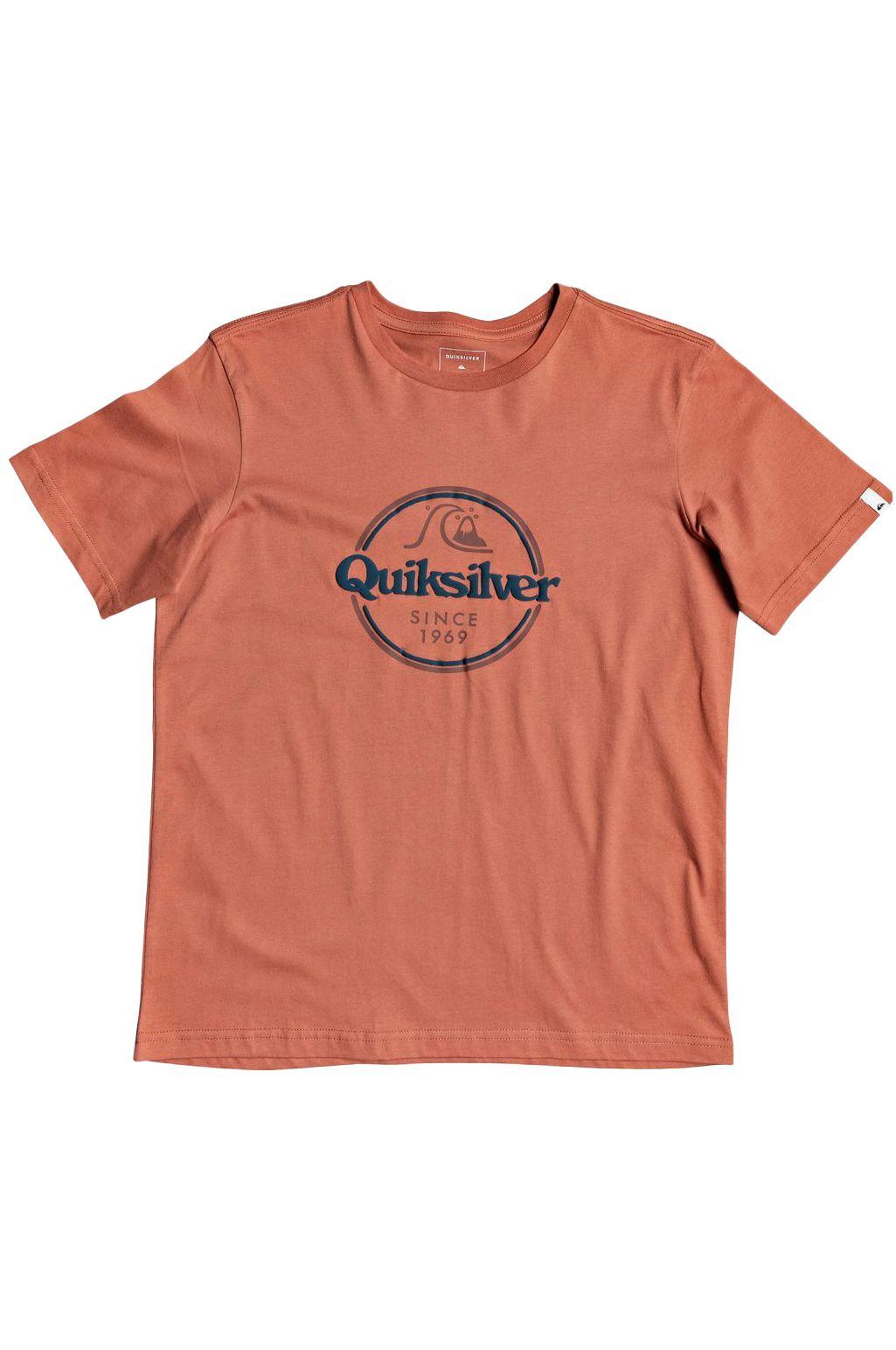Quiksilver T-Shirt WORDS REMAIN Redwood