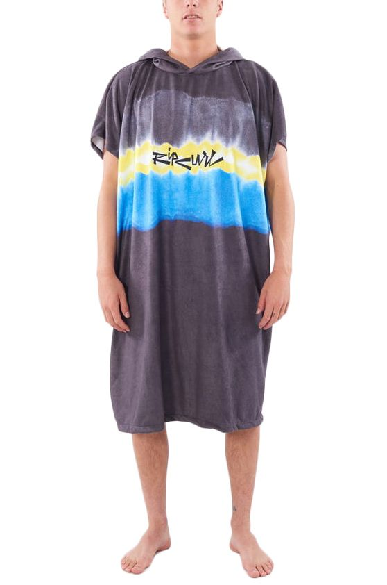 Rip Curl Poncho MIX UP HOODED TOWEL Black/Yellow