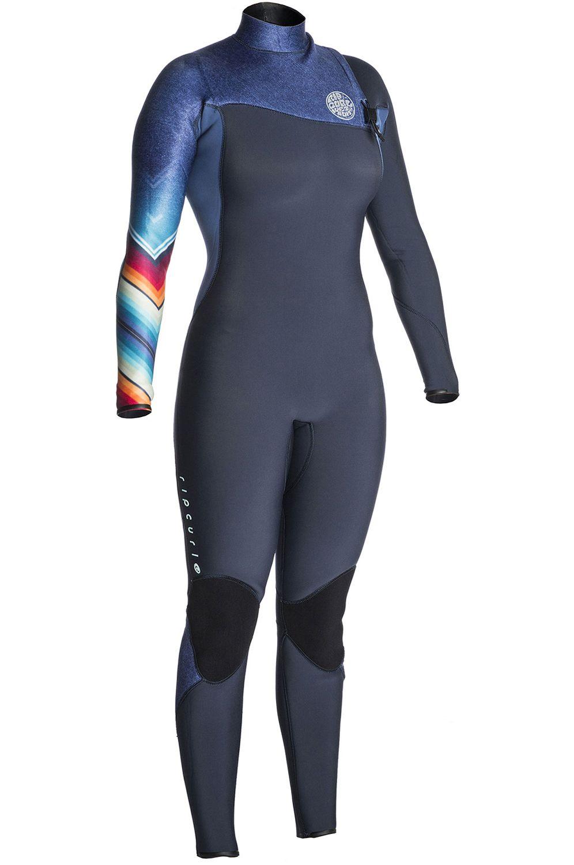 Rip Curl Wetsuit WOMENS GBOMB ZF 3/2 STEAMER (SUB) Denim Blue 3x2mm