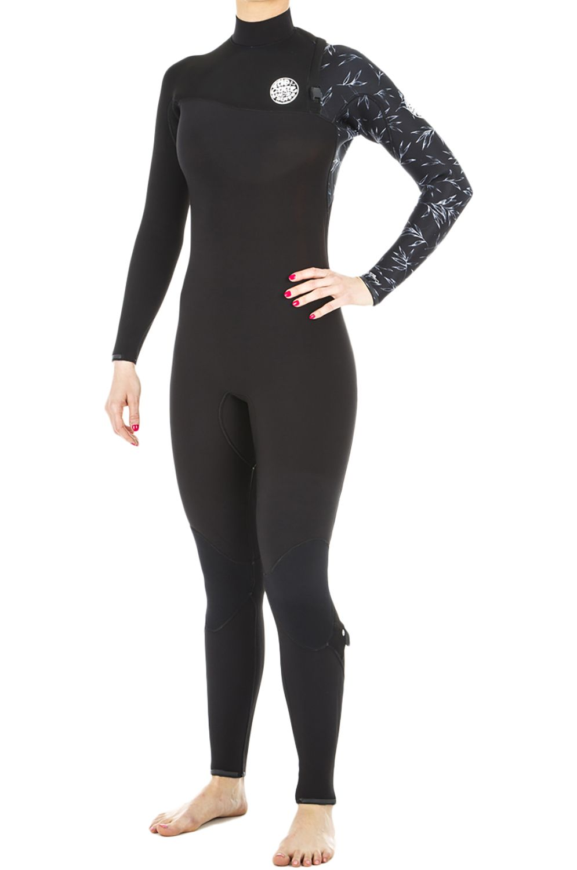 Rip Curl Wetsuit G-BOMB ZIP FREE 5/3 Black/White 5x3mm