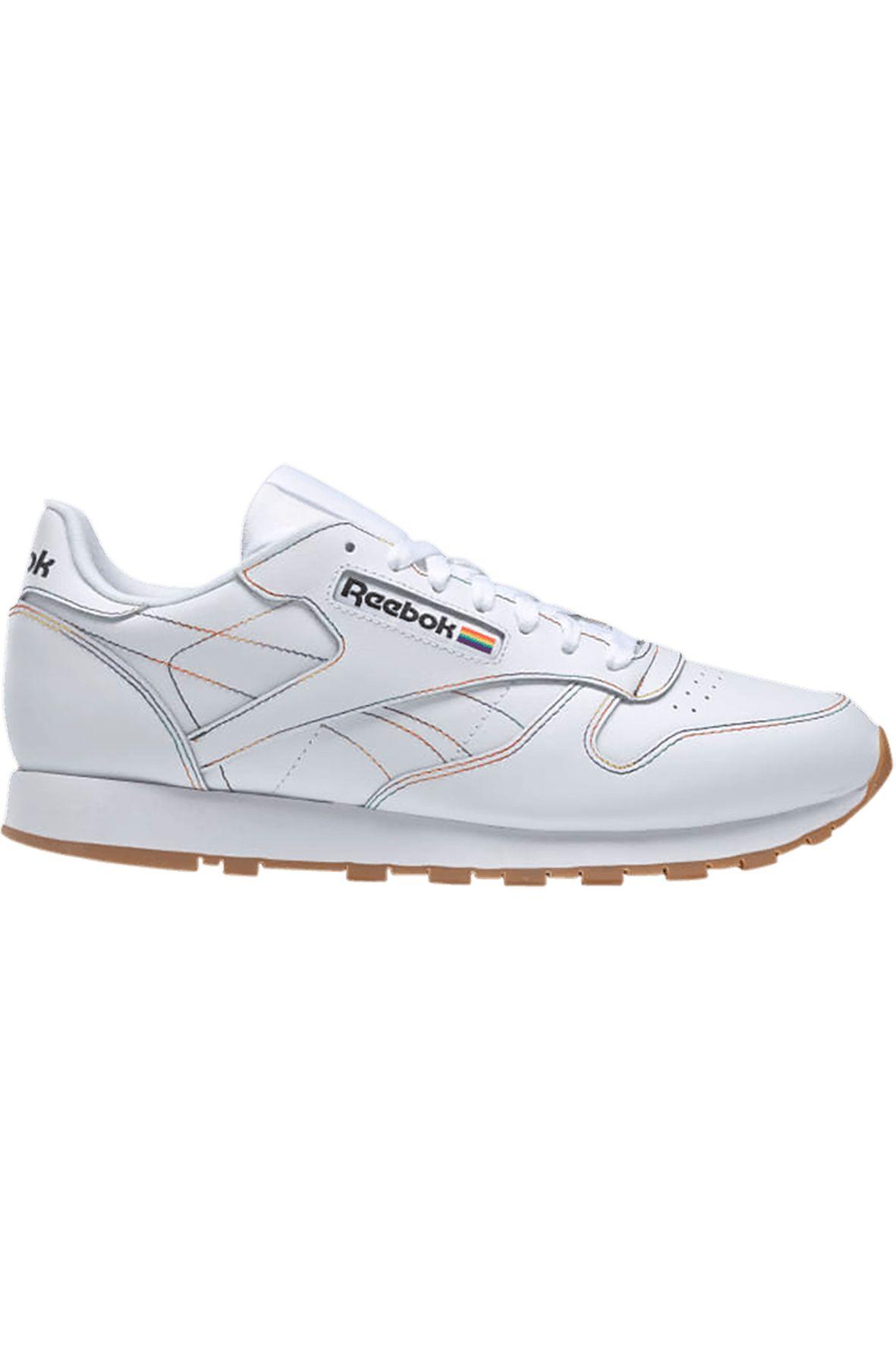 Reebok Shoes CL LTHR White/Emeral/Cobalt