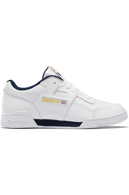 Reebok Shoes WORKOUT PLUS MU White/Collegiate Navy/Toxic Yellow