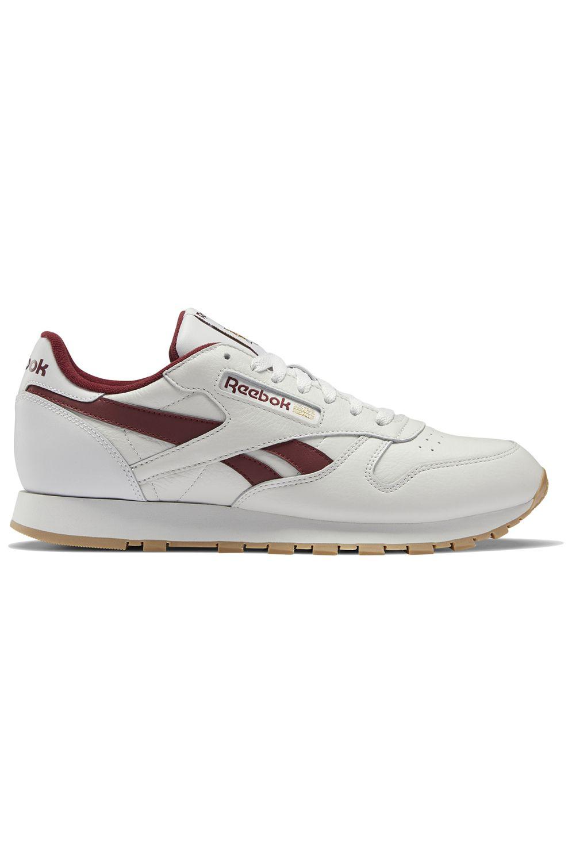 Reebok Shoes CL LTHR Porcelain/Merlot/Reebok Rubber Gum-04