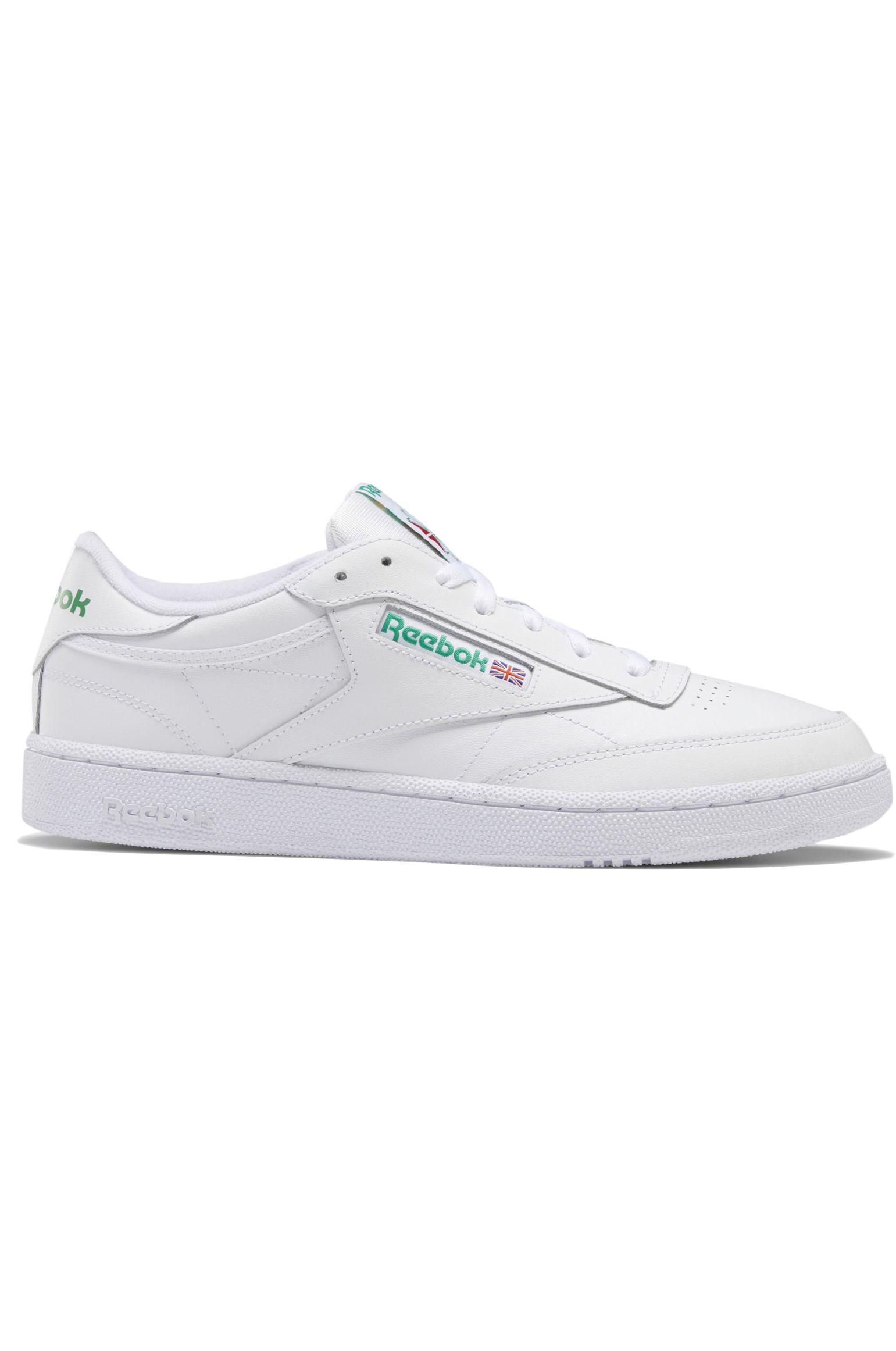 Reebok Shoes CLUB C 85 Int-White/Green