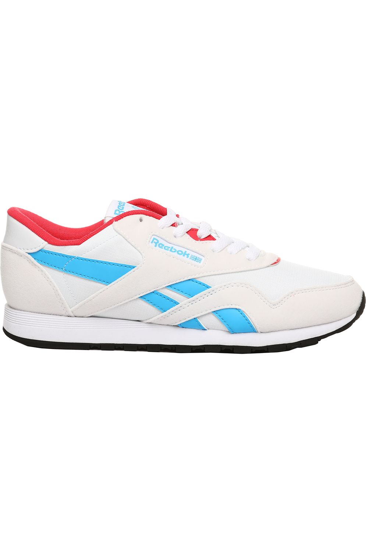 Reebok Shoes CL NYLON White/Hype Pink/Cyan/Blk