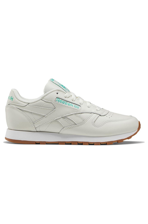 Reebok Shoes CL LTHR Chalk/Court Green/White