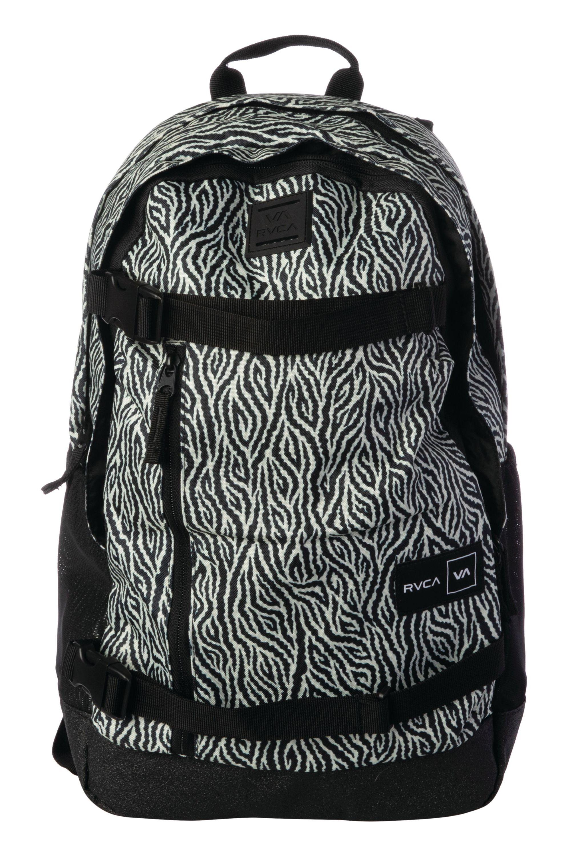 RVCA Backpack CURB SKATE BACKPACK Black/White