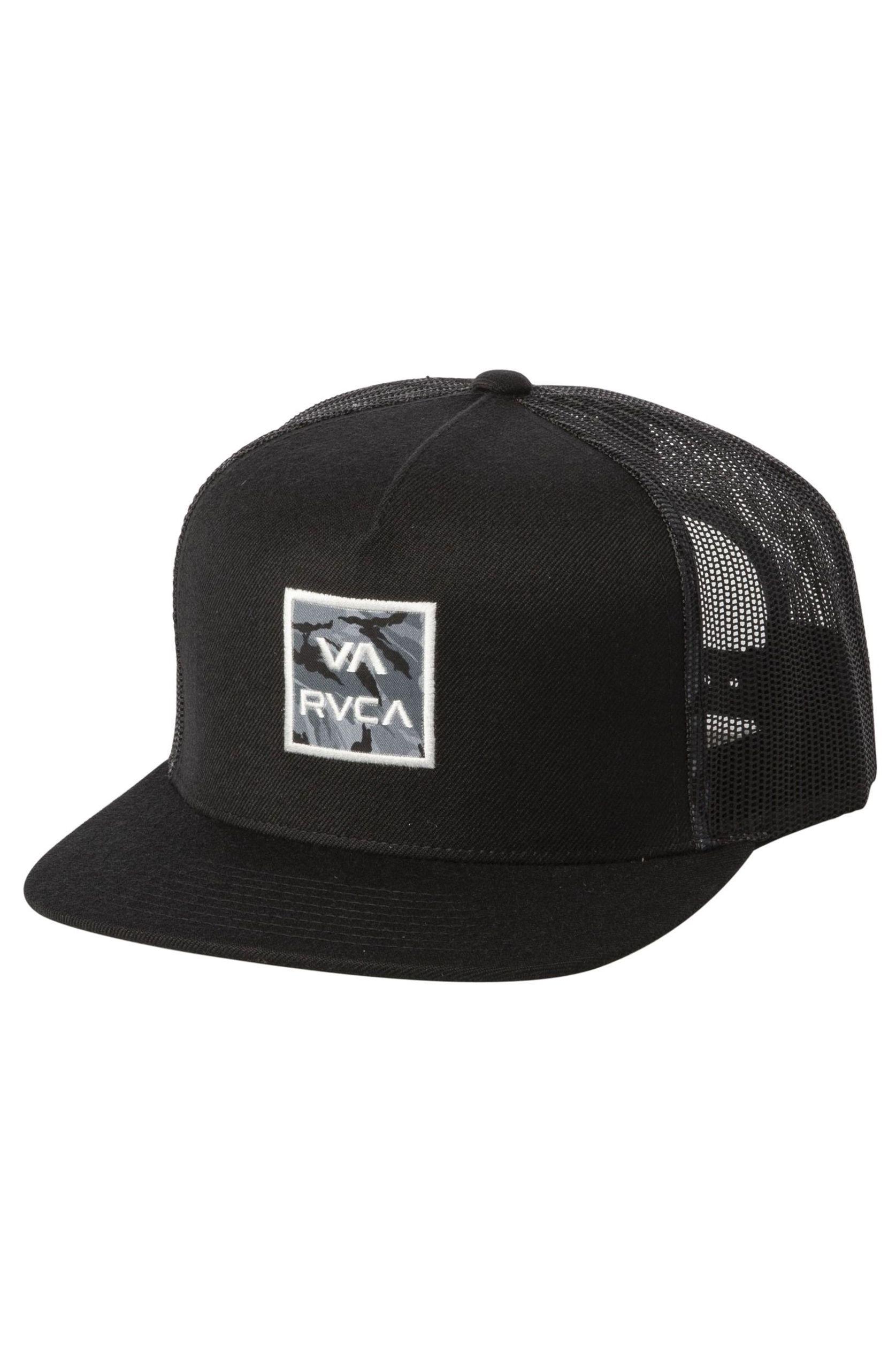 RVCA Cap   VA ATW PRINT TRUCKER Black