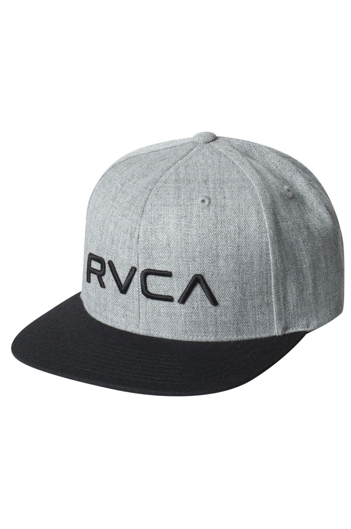 Bone RVCA RVCA TWILL SNAPBACK Hthr Grey/Black
