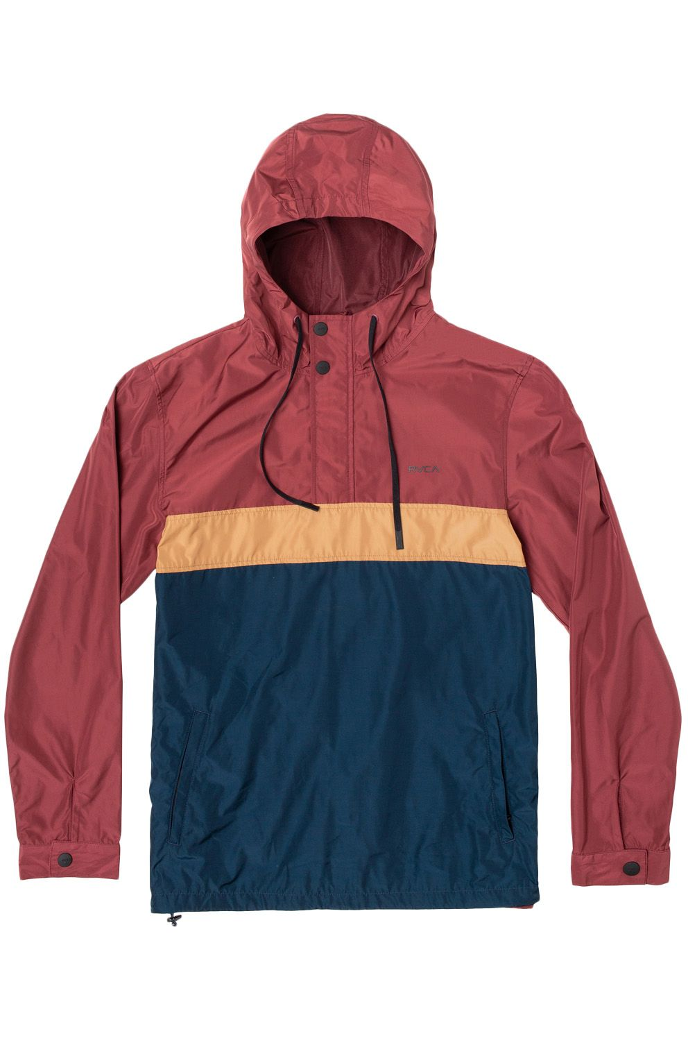 RVCA Jacket MEYER PACKABLE ANORA Oxblood Red