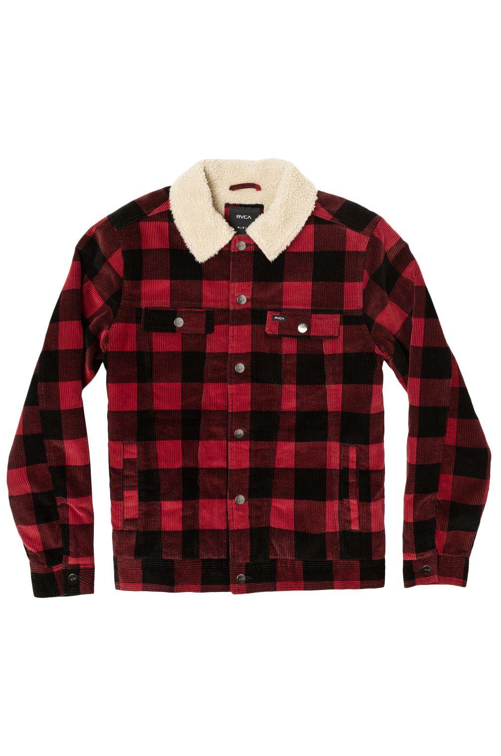 RVCA Jacket WAYLON TRUCKER Red