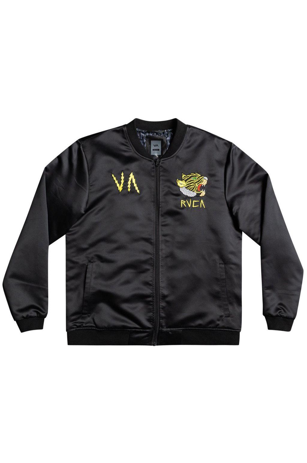 RVCA Jacket LEINES SOUVENIR JACK MATT LEINES Black