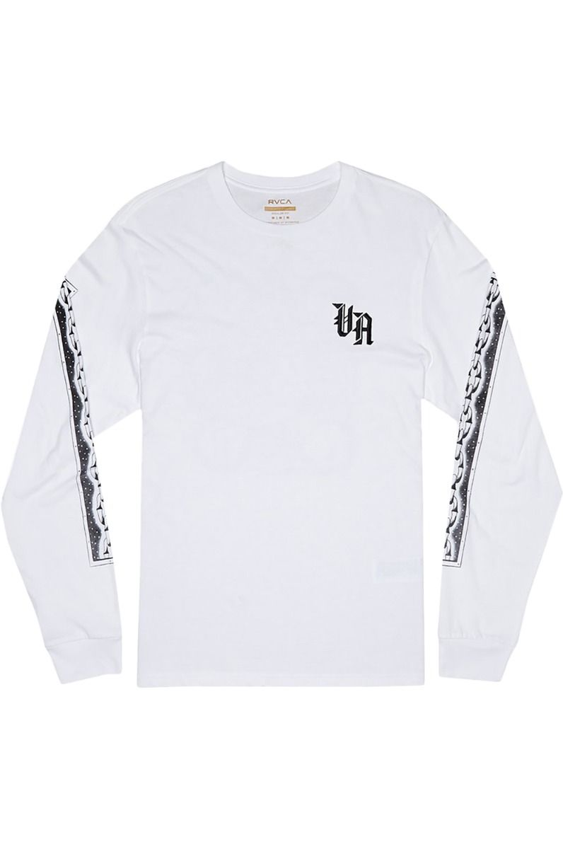 L-Sleeve RVCA CROCO White