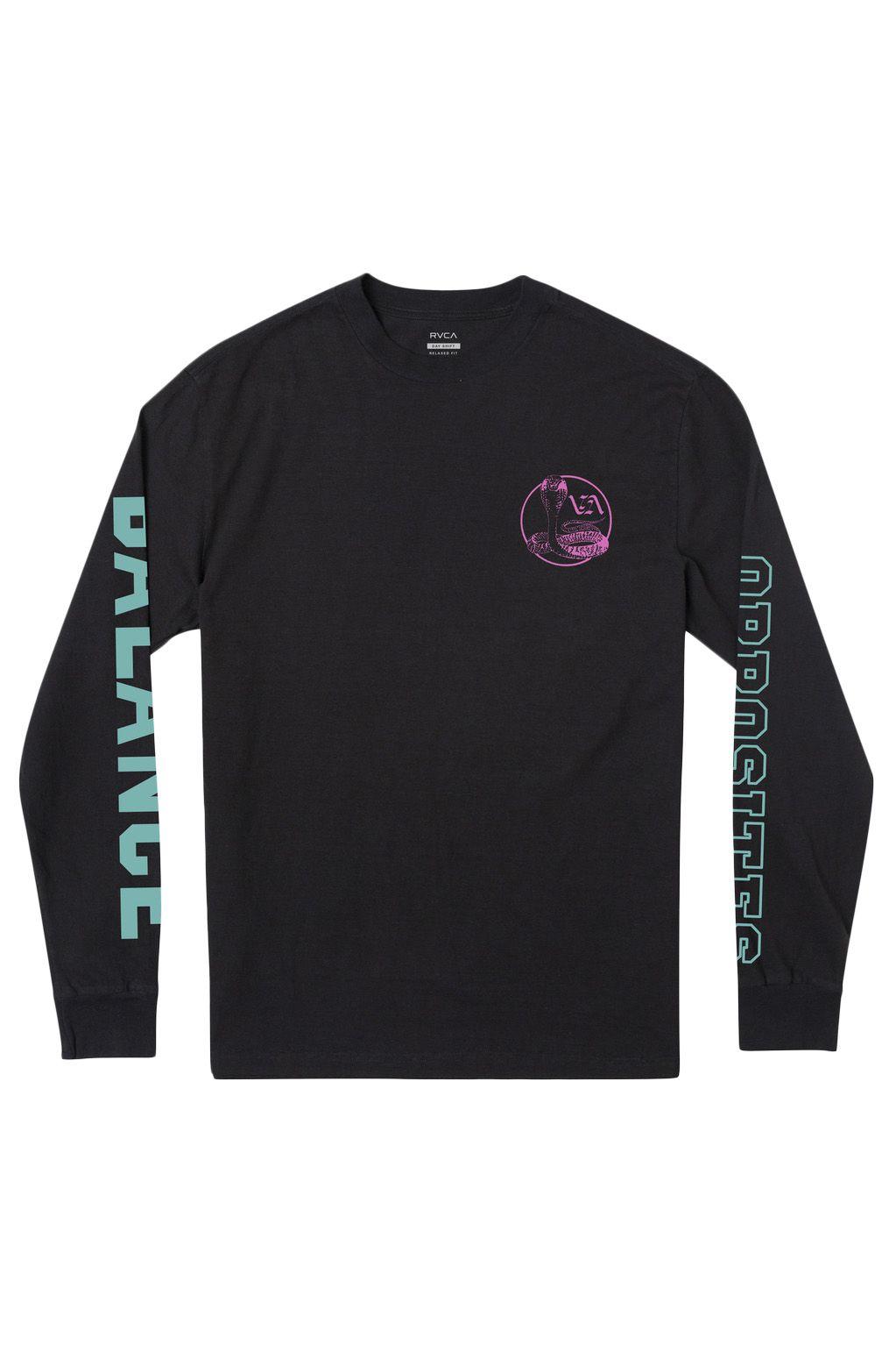 RVCA L-Sleeve COBRA UNIVERSITY LS Black