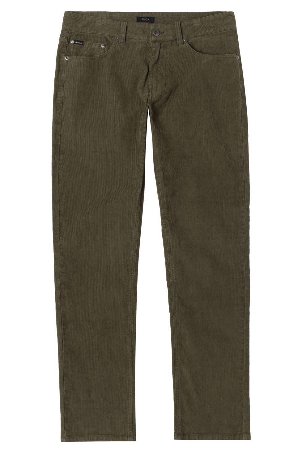 RVCA Pants DAGGERS PIGMENT CORD Olive