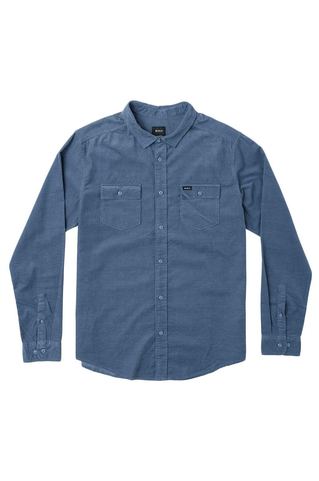 RVCA Shirt FREEMAN CORD LS China Blue
