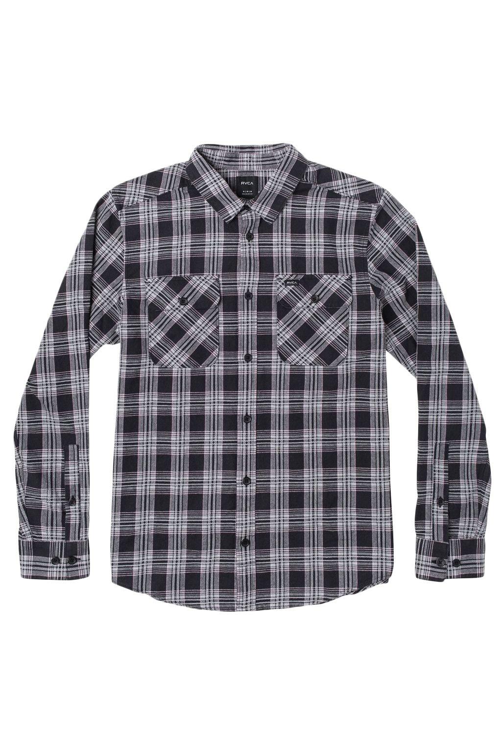 RVCA Shirt THATLL WORK FLANNEL Black