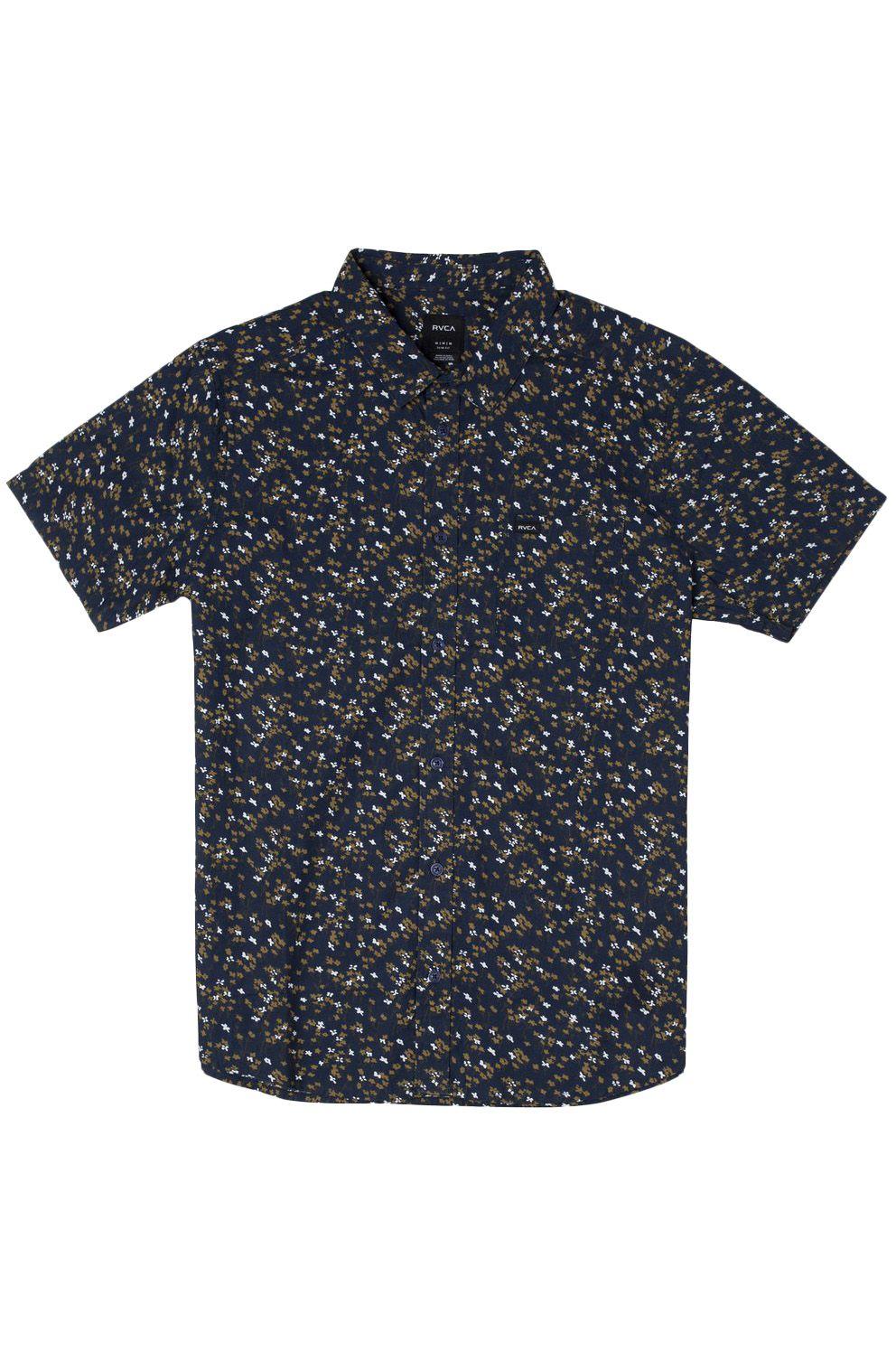 RVCA Shirt ETERNAL SS Moody Blue